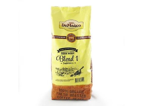 кофе в зернах de marco fresh roast blend-1 1000 гр