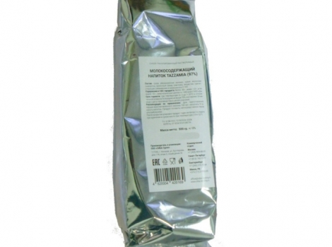 молокосодержащий напиток tazzamia 97%, 500 гр (0,5 кг)