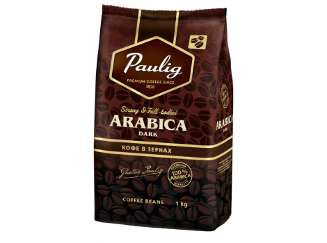 Кофе в зернах Paulig Arabica Dark 100% 1000 гр (1кг)