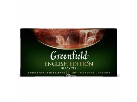 Чай черный Гринфилд Инглиш Эдишн (25 пак. х 2г.)