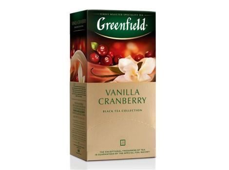 Чай черный Гринфилд Vanilla Cranberry в пакетиках (25 пак. * 1,5 гр)