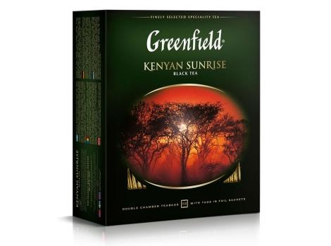 Чай черный Гринфилд Кениан Санрайз 100 пак. х 2г