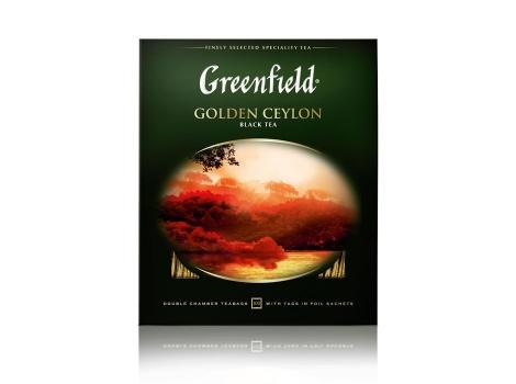 Чай черный Гринфилд Golden Ceylon в пакетиках (100 х 2 гр)