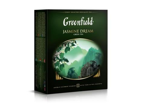 Чай зеленый Гринфилд Jasmine Dream в пакетиках (100 х 2 гр)