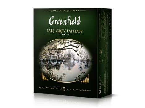 Чай черный Гринфилд Earl Grey Fantasy в пакетиках (100 х 2 гр)