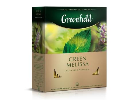 Чай зеленый Гринфилд Green Melissa в пакетиках (100 х 1.5 гр)