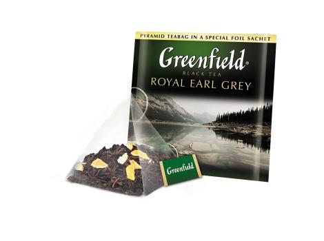 Чай черный Гринфилд Earl Grey в пирамидках (20 х 2 гр)