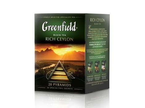 Чай черный Гринфилд Rich Ceylon в пирамидках (20 х 2 гр)