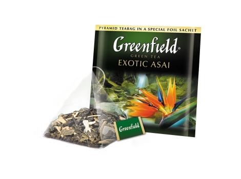 Чай зеленый Гринфилд Exotic Asai в пирамидках (20 х 1.8 гр)