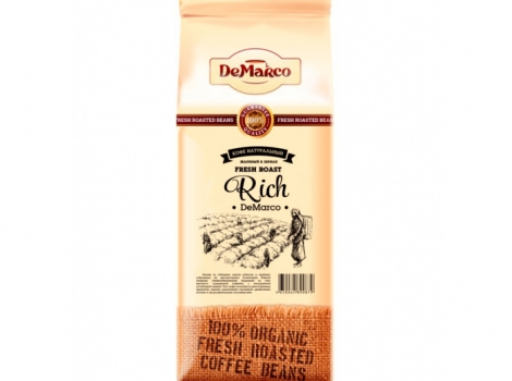кофе в зернах de marco fresh roast rich 1000 гр (1 кг)