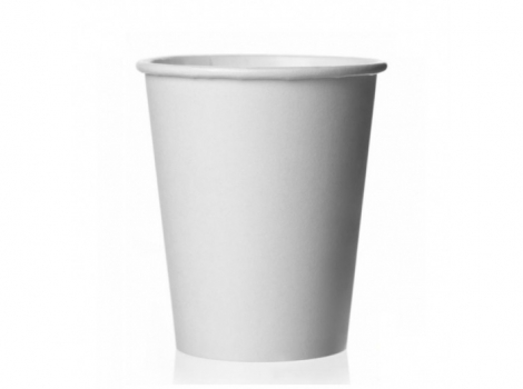 бумажный стакан для кофе 165 мл белый (100 шт)