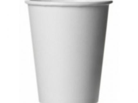 бумажный стакан для кофе 300 мл белый (100 шт)