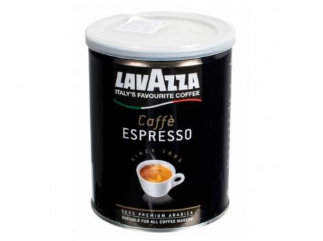 кофе молотый lavazza caffe espresso 250 грамм (банка)