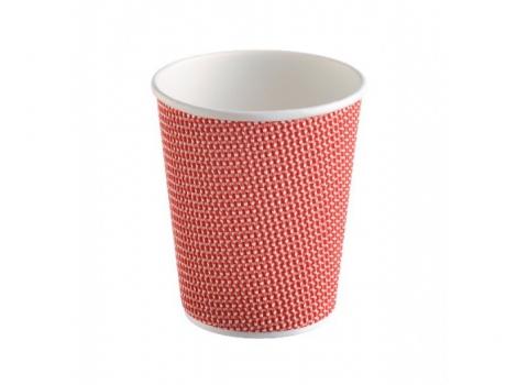 2-й бумажный стакан для кофе 360 мл красный (100 шт)