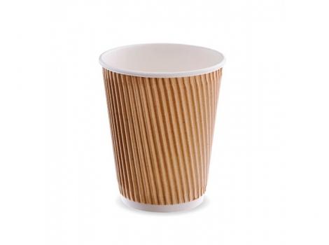2-й бумажный стакан для кофе 240 мл гофра (100 шт)