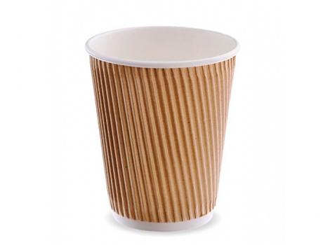 2-й бумажный стакан для кофе 360 мл гофра (100 шт)