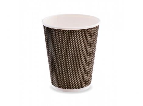 2-й бумажный стакан для кофе 360 мл коричневый (100 шт)