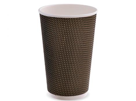 2-й бумажный стакан для кофе 480 мл коричневый (100 шт)