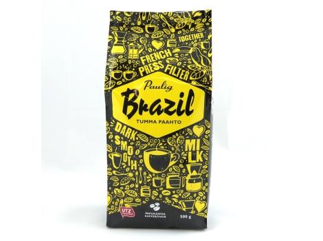 Кофе в зернах Paulig Brazil Tumma Paahto 500 г