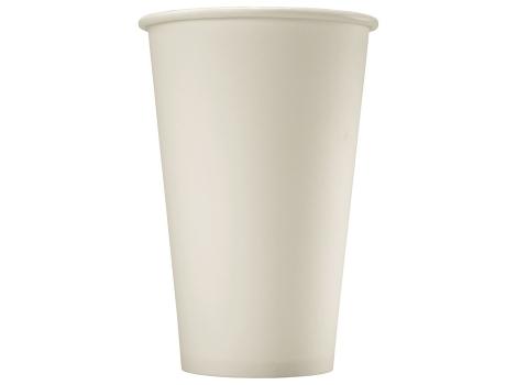 Бумажный стакан для кофе 340 мл белый (50 шт) узкий ВЕНДИНГ