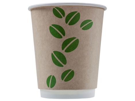 Бумажный стакан для кофе 250 мл  COFFEE BEAN CRAFT, двухслойный (25 шт)