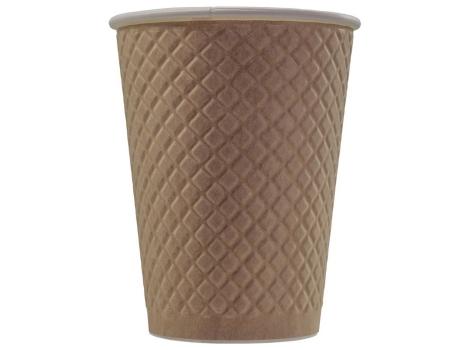 Бумажный стакан для кофе 300 мл рифленый Waffle Kraft (25 шт)