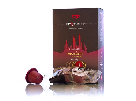Кофейные капсулы NYXpresso, Impulsivo (крепость №8) (10 шт)