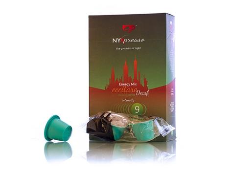 Кофейные капсулы NYXpresso, без кофеина, Eccitare Decaf (крепость №9) (10 шт)