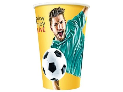 Бумажный стакан для кофе 300 мл Football (50 шт) узкий