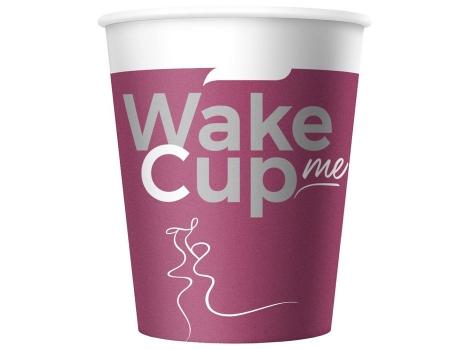 Бумажный стакан для кофе 165 мл WakeMeCup (100 шт) ВЕНДИНГ Евро