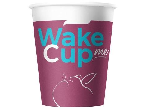 Бумажный стакан для кофе 180 мл WakeMeCup (80 шт)