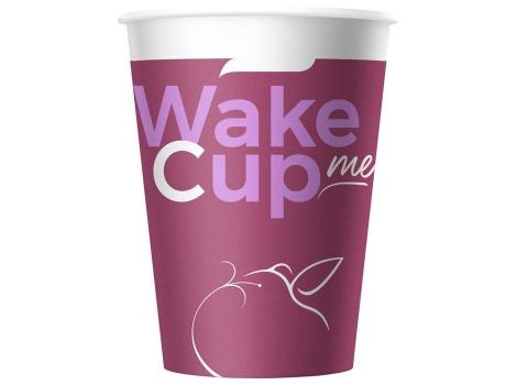 Бумажный стакан для кофе 300 мл WakeMeCup (50 шт) широкий