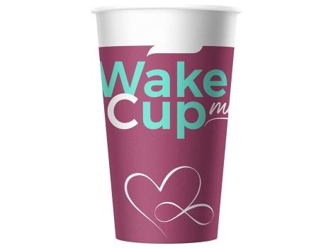 Бумажный стакан для кофе 400 мл WakeMeCup (50 шт)