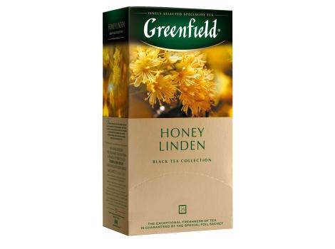 Чай черный Гринфилд Honey Linden в пакетиках (25 пак * 1,5 гр)