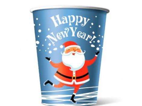 бумажный стакан для кофе 250 мл happy new year (100 шт)