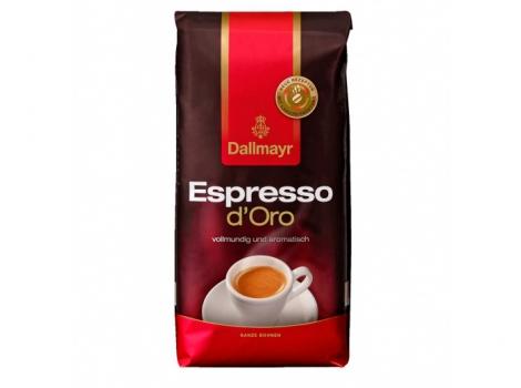 кофе в зернах dallmayr espresso d'oro 1000 гр (1кг)