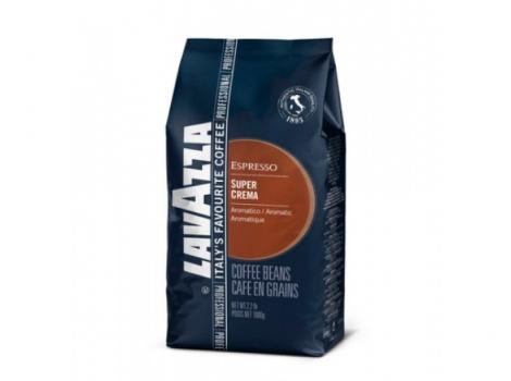 кофе в зернах lavazza espresso super crema 1000 гр (1кг)