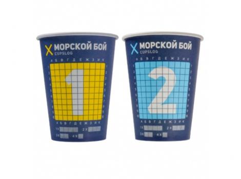 бумажный стакан для кофе 300 мл морской бой (100 шт)
