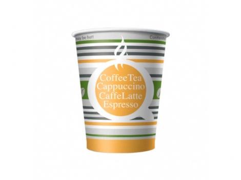 бумажный стакан для кофе 180 мл цветной полосатое лето (100 шт)