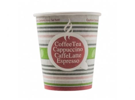 бумажный стакан для кофе 250 мл полосатое лето (100 шт)