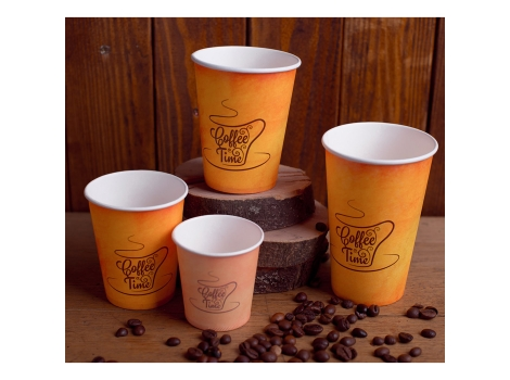Бумажный стакан для кофе 300 мл Coffe Time (50 шт)