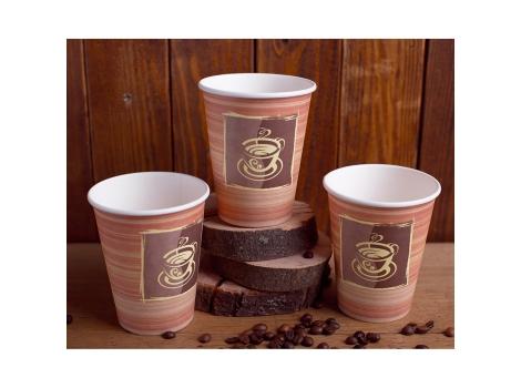 Бумажный стакан для кофе 300 мл Chocolate (50 шт)