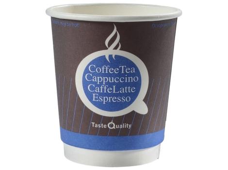 Бумажный стакан для кофе 250 мл Taste Quality синий, двухслойный (25 шт)