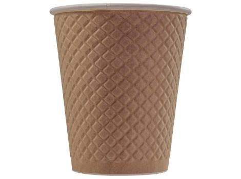 Бумажный стакан для кофе 250 мл рифленый Waffle Сraft, двухслойный (25 шт)
