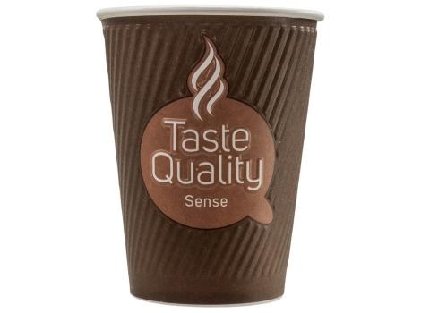 Бумажный стакан для кофе 300 мл Taste Quality Sense, двухслойный (25 шт)