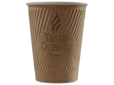 Бумажный стакан для кофе 300 мл Taste Quality Sense Craft, двухслойный (25 шт)