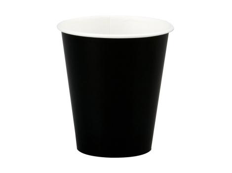 Бумажный стакан для кофе 250 мл. ЧЕРНЫЙ (75 шт)