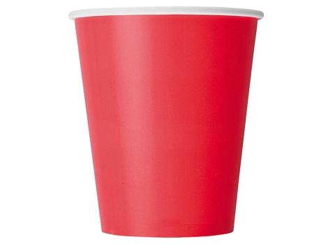 Бумажный стакан для кофе 250 мл красный (75 шт)