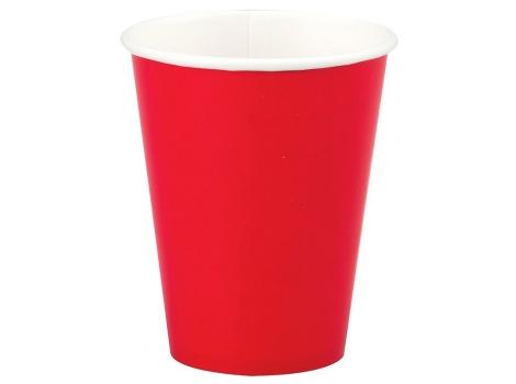 Бумажный стакан для кофе 300 мл красный (50 шт)