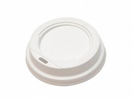 Крышка для стакана диаметр 80мм с питейником, белая (100 шт)
